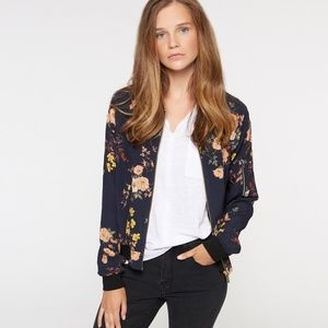NWT Sanctuary floral navy bomber jacket